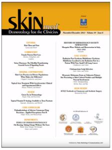 SkinMed, November/December 2012, Volume 10, Issue 6, Supplement 1